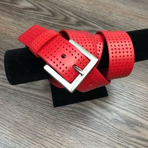 Other - Solid Red Silicone Golf Belt 38